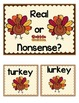 Fall and Thanksgiving Literacy Centers