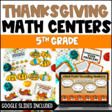 5th Grade Thanksgiving Math Centers