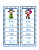 Fall and Thanksgiving Number Word Activity - Clip Cards