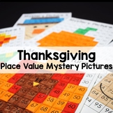 Thanksgiving Math Place Value Color By Number 100's Chart Mystery Pictures