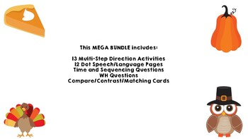 Fall and Thanksgiving-Speech and Language Mega Bundle!