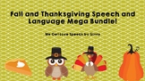 Fall and Thanksgiving-Speech and Language Mega Bundle!