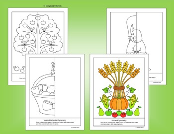 Fall and Thanksgiving Symmetry - NO PREP Fun Geometry Activities