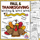Fall and Thanksgiving Writing and Word Work