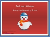 Fall and Winter Themed:  Stamp the Beginning Sound