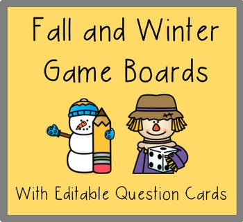 Fall and Winter Game Boards