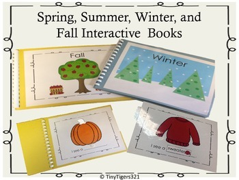Spring, Summer, Winter, and Fall Interactive Books