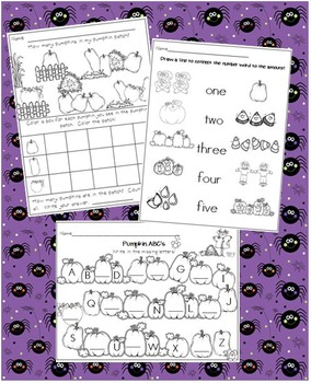 Fall and Winter Literacy and Math Bundle for Kindergarten