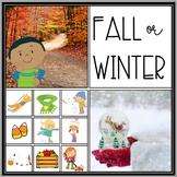 Fall and Winter Seasons Sort