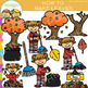 Fall and Winter Sequencing Clip Art GROWING Bundle
