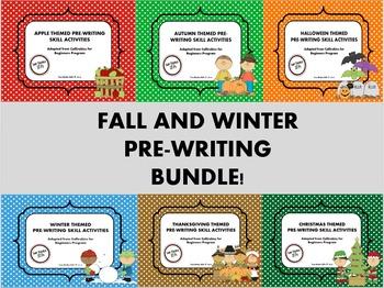 Fall and Winter Themed Pre-Writing (Callirobics) Activities BUNDLE
