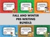 Fall and Winter Themed Pre-Writing (Callirobics) Activitie