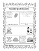 Fall artic NO PREP homework with language extension & carryover activities