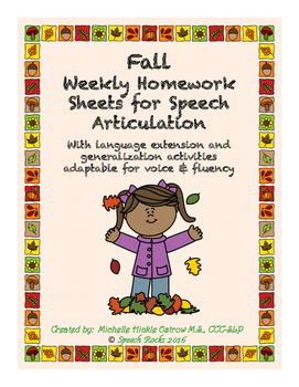 Fall artic NO PREP homework with language extension & carr