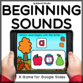 Fall beginning sound review Google Slides activity | Alphabet Letters