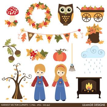 Fall clip art, Autumn clip art, Harvest clip art, Thanksgiving clip art, v1