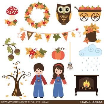 Fall clip art, Autumn clip art, Harvest clip art, Thanksgiving clip art, v3