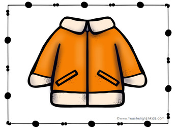 Fall clothes Vocabulary Flashcards, posters, minicards for ESL