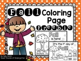 Fall coloring page FREEBIE