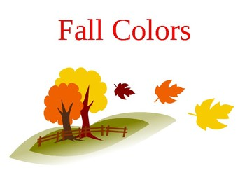 Fall colors posters/flash cards