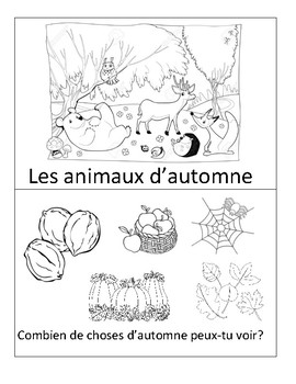 Fall colour and read booklet (french)
