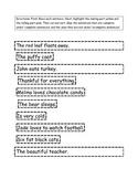 Fall complete sentence sort