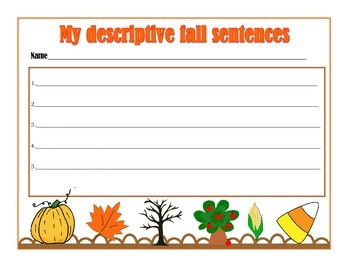Fall descriptive writing