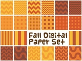 Fall digital paper