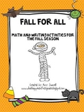 Fall for All Math & Writing Pack