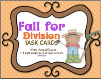 Fall for Division Task Cards