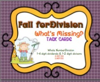 Fall for Division - What is Missing? Task Cards