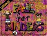 Fall for Kindergarten ~ Core Enrichment Activities (Autumn Centers)