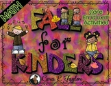 Fall for Kindergarten Math~ Core Enrichment Activities (Autumn Centers)