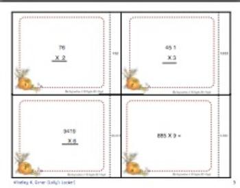 Fall for Multiplication Task Cards