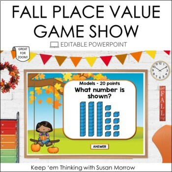 Place Value Game: Place Value PowerPoint Game Show Jeopardy Style Gr. 2-3