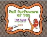 Fall for Powers of Ten Task Cards
