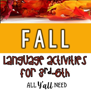 Fall for Speech & Language Therapy - Upper Elementary