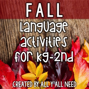 Fall for Speech & Language Therapy - Younger Elementary