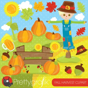 Fall harvest clipart commercial use, vector graphics, digital - CL692