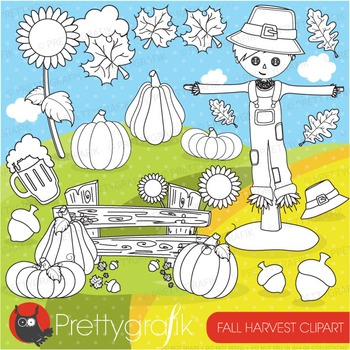 Fall harvest stamps commercial use, vector graphics, images - DS692