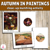 Fall in Paintings Close-Up Matching Activity
