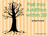 Fall into Addition within 20 Game Board