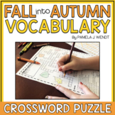 Fall into Autumn Vocabulary Crossword Puzzle