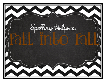 Fall into Fall theme words list- French and English
