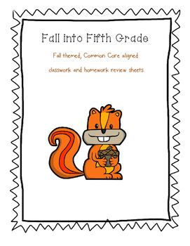 Fall into Fifth Grade Review Packet
