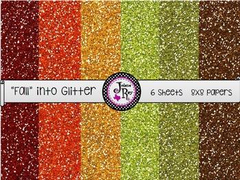 """Fall"" into Glitter - Digital Paper"