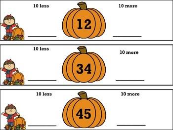 Fall into Math 1.NBT1, 3