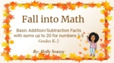Fall into Math Addition/Subtraction Facts (#s 1-5)