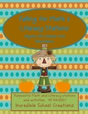 Fall into Math & Literacy Stations(160 pgs!) - October fun-Aligned w/Common Core