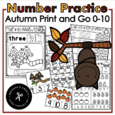 Fall into Math Pre-K - Kindergarten Number Recognition / N